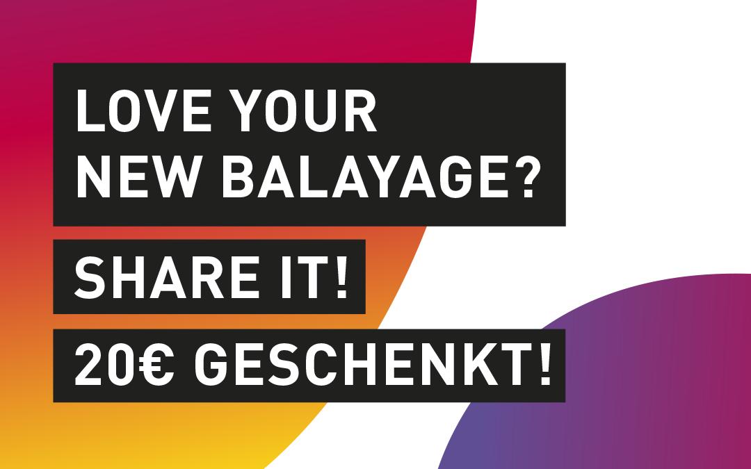 Balayage-Aktion für deinen Sommer